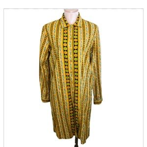Vintage Late 60-Early 70s Long Sleeve Groovy Dress